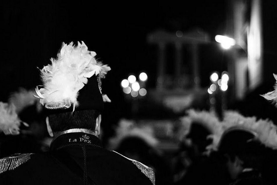 la paz blanco y negro